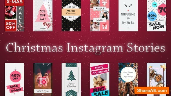 Videohive Christmas Instagram Stories
