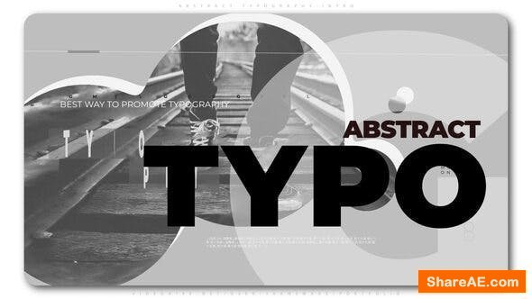 Videohive Abstract Typography Intro