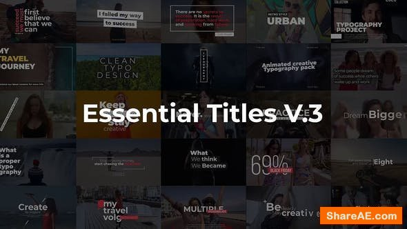 Videohive Essential Titles V.3