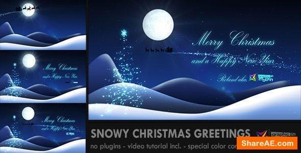 Videohive Snowy Christmas Greetings