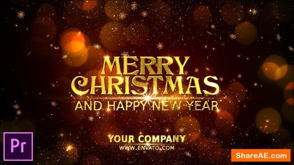 Videohive Merry Christmas Wishes - Premiere Pro