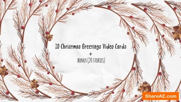 Videohive Christmas Greeting Video Cards