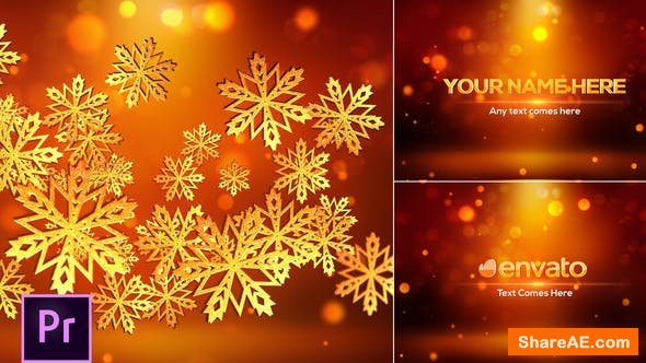 Videohive Snowflakes Logo - Premiere Pro