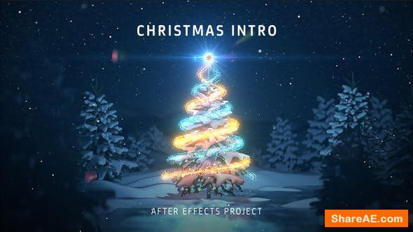 Videohive Christmas Tree Intro