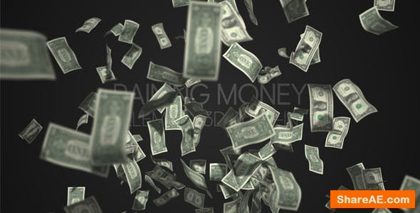 Videohive Raining Money