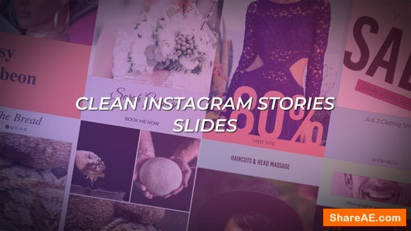 Videohive Clean Instagram Stories Slides