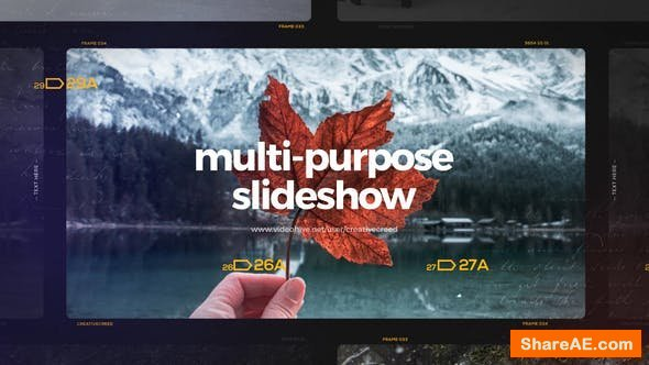 Videohive Multipurpose Slideshow 25266688