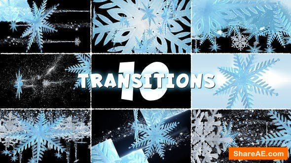 Videohive Winter Transitions Pack