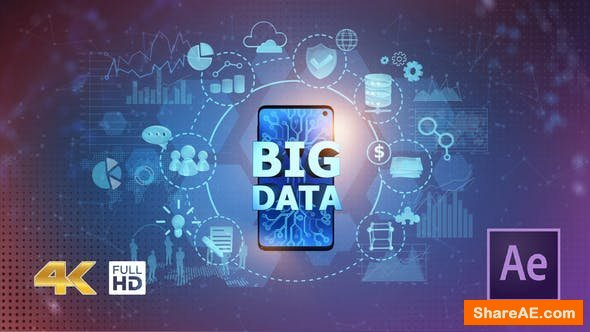 Videohive BIG DATA on Mobile Phone