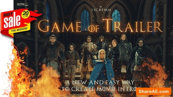 Videohive Throne Of Games / Cinematic Trailer Toolkit