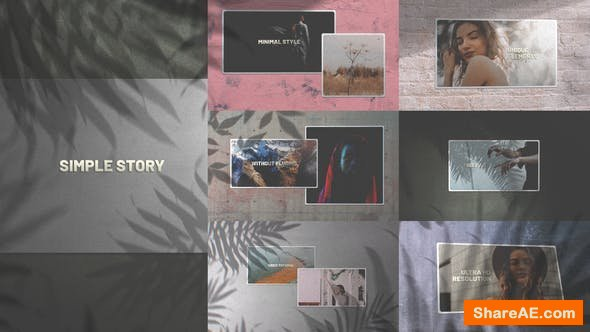Videohive Simple Story/ Minimal Slides/ Clean Slideshow/ Travel Cinematic Opener/ Lovely Slideshow/ Art Shadow