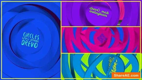 Videohive Circles Simple Opening/ Transitions/Minimal Logo/ Youtube Clean Intro/ Cartoon Kid TV/ Corp/ IGTV