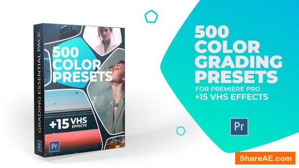 Videohive 500 Cinematic Color Presets, 15 VHS Video Effects, Old Film Looks - Premiere Pro