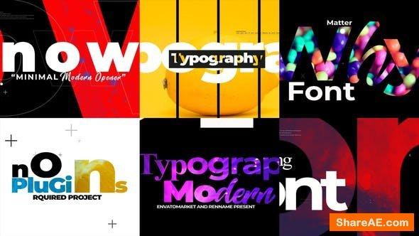 Videohive Minimal Typograpy Opener
