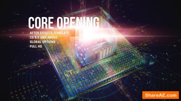 Videohive CORE Opening/ Corporate IT Logo Reveal/ HUD and UI/ Game and APP/ Cubes and Lights/ Hi-Tech Intro