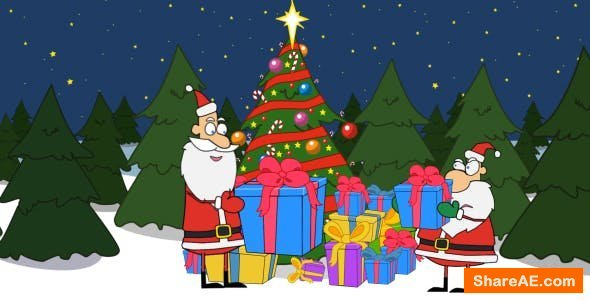 Videohive Santa is Opening a Present