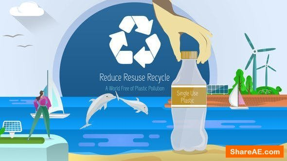 Videohive Ocean Plastic Waste Recycling and Clean Energy Campaign