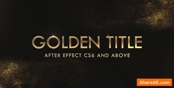 Videohive Golden & Silver Titles