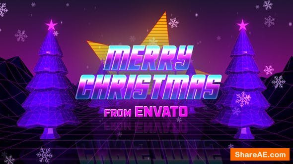 Videohive Retro 80s Christmas Wishes