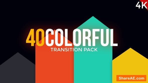 Videohive Modern Colorful Transitions Pack - Premiere Pro