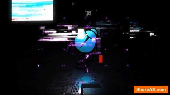 Videohive Glitch logo opener 23717428
