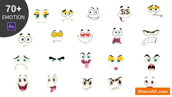 Videohive Cartoon Emoticons Pack