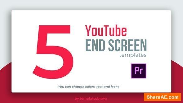 Videohive YouTube End Screens - Premiere Pro