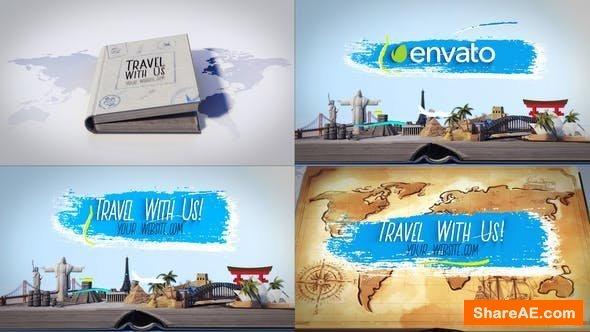 Videohive Travel Book Logo Reveals