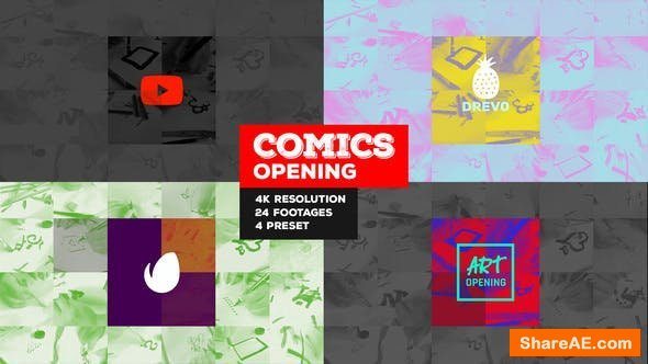 Videohive Fast Comics Opening/ Art Intro/ Kids Cartoon Tv Broadcast Intro/ Teens Youtube Channel/ Family Tales