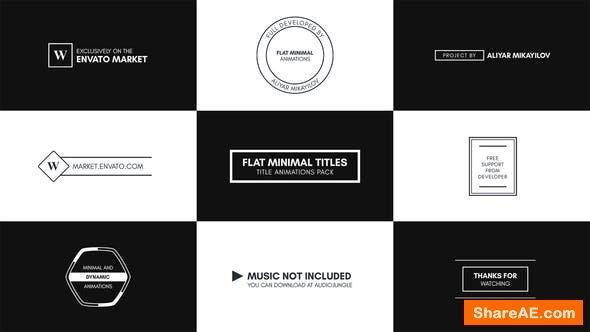 Videohive Flat Minimal Titles - Essential Graphics | Mogrt - Premiere Pro
