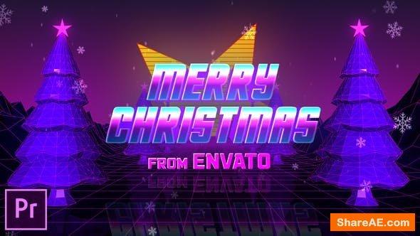 Videohive Retro 80s Christmas Wishes - Premiere Pro