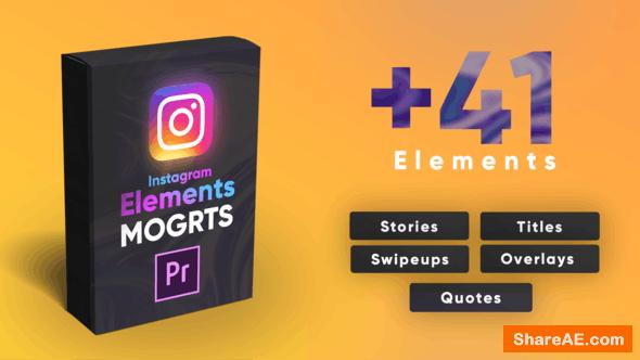 Videohive Instagram Elements Pack-MOGRT - Premiere Pro