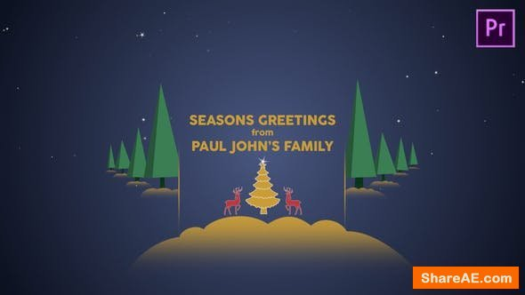 Videohive Parallax Christmas Greetings - Premiere Pro