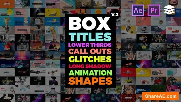Videohive BOX Auto Resizing Titles Pack