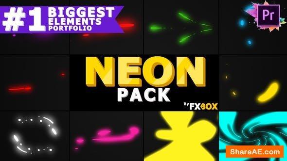 Videohive Neon Shape Elements | Premiere Pro MoGRT