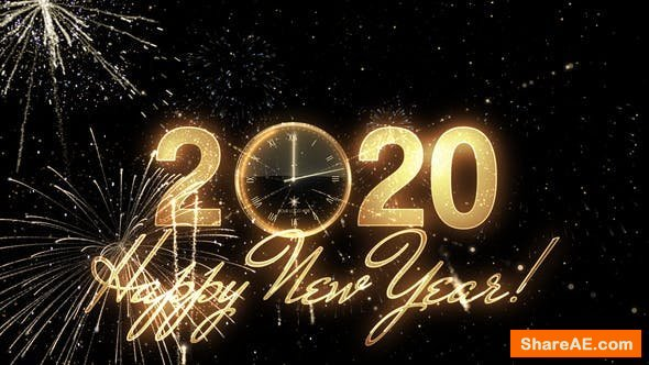 Videohive Glamorous New Year Countdown Clock 2020