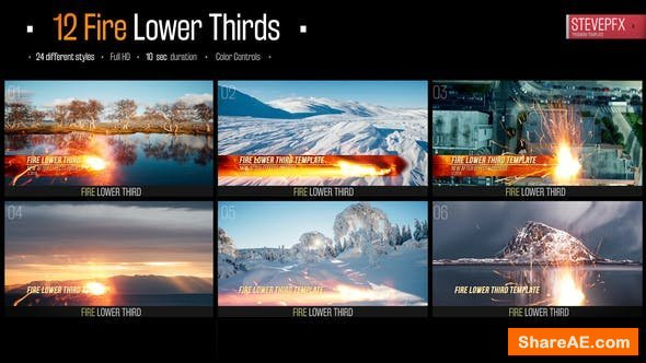 Videohive Fire Action Lower Thirds