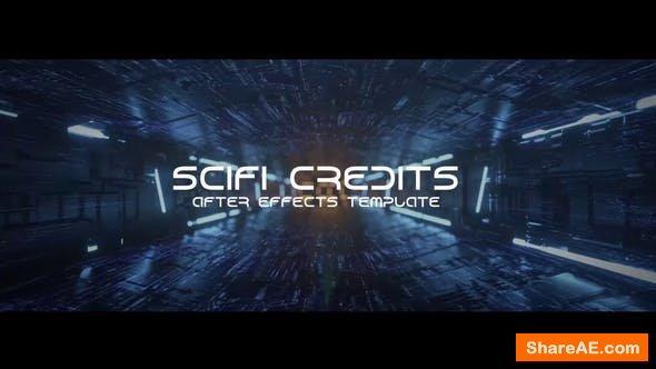 Videohive Sci-fi Tunnel Credits