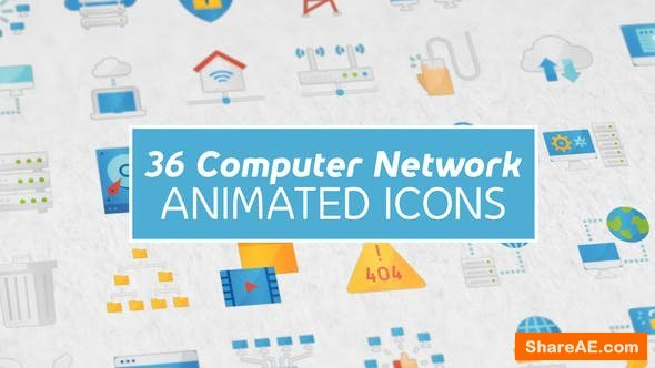 Videohive Computer Network Modern Flat Animated Icons