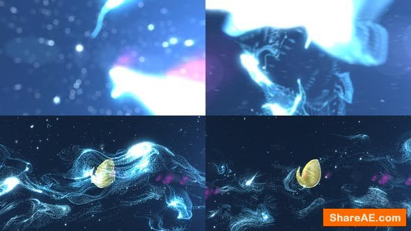 Videohive Particles Streaks Logo Reveal