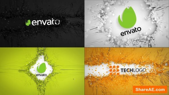 Videohive Abstract Cubes Logo Reveals