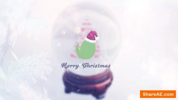 Videohive Christmas Snow Globe Grettings