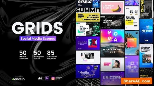 Videohive Grids - Social Media Scenes