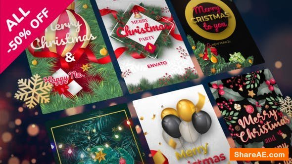 Videohive Christmas Instagram Stories 25333544