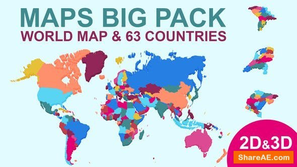 Videohive Maps Big Pack