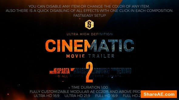 Videohive Cinematic Modular Trailer Montage 2
