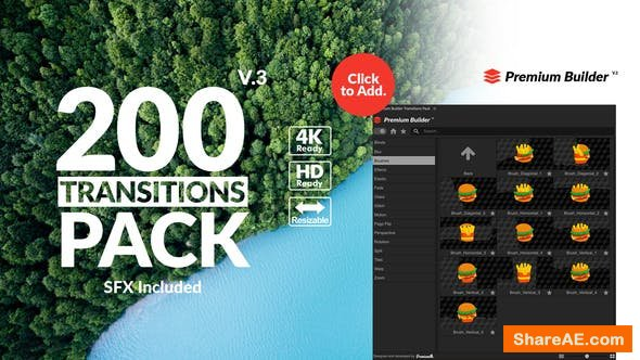 Videohive Transitions Pack v3 21721120
