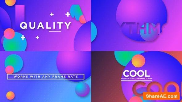 Videohive Colorful Typo Opener