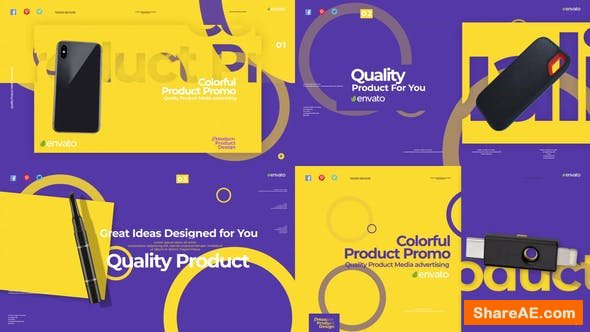 Videohive Colorful Product Promo