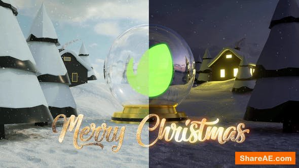 Videohive Christmas Logo Intro